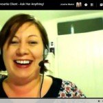 Replay of the interview and Q&A session with my favourite client